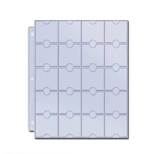 20-POCKET-COIN-PAGES-SUIT-2-x-2-HOLDERS-pack-of-10-sheets-Free-Shipping