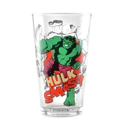 OFFICIAL MARVEL THE HULK LARGE DRINKING GLASS NEW IN GIFT - The Hulk Drink