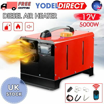 5000W 12V Air Diesel Heater 5KW 4 Holes LCD Monitor PLANAR Trucks Car Boats Bus