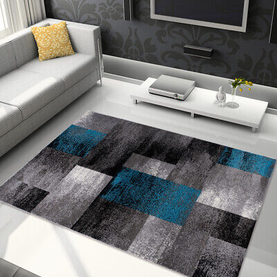 SOFT GREY AREA RUG FOR LIVING ROOM BEST PRICES RECTANGLES GEOMETRIC (Best Carpet For Living Room Area)
