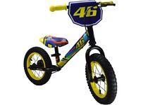 Kiddimoto Valentino Rossi Super Junior Max Metal Balance Bike + Helmet + Gloves