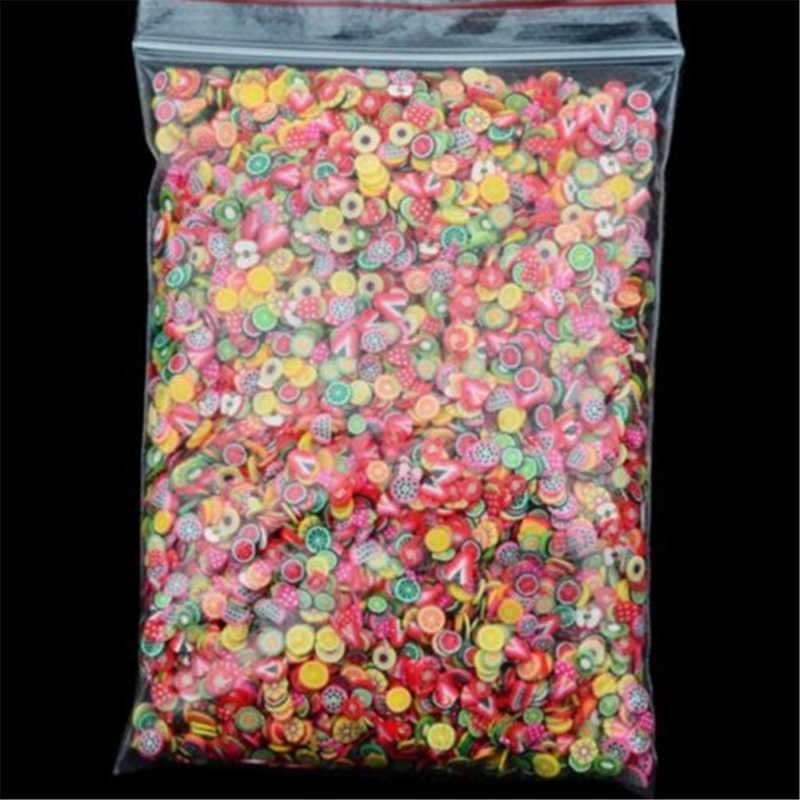 1000PC Mini Nail Art Mixed Fimo Slices Polymer Clay Stickers