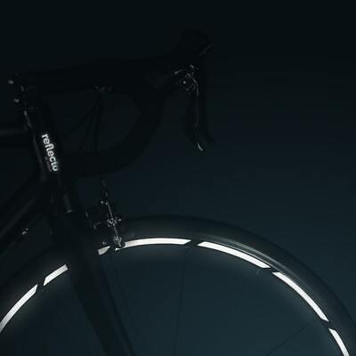 Reflektoren-Aufkleber fürs Fahrrad in schwarz und weiß von 8 bis 29 Zoll