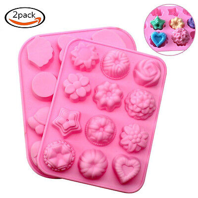 2pcs Silicone Flower Animal Shape Cupcake Baking Candy Chocolate Muffin Mold