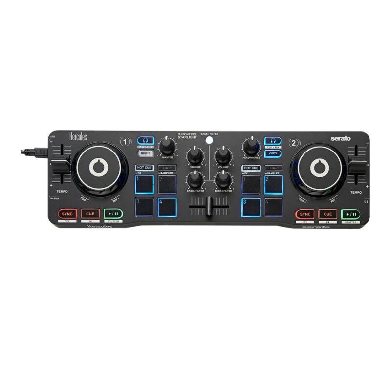Hercules DJ Control Starlight Compact Controller with Serato DJ Lite