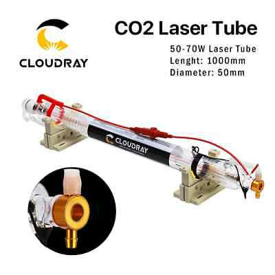 Cloudray Metal Head Co2 Laser Tube 50-70w L1000mm Dia.50mm Cr50 Water Cooling...