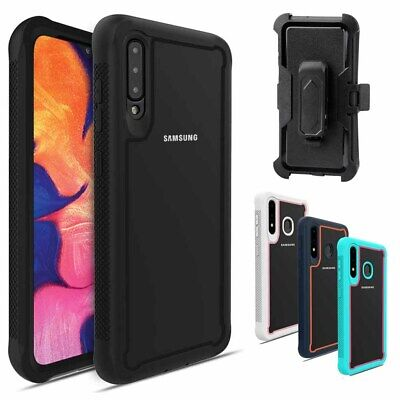 For Samsung Galaxy A10e A20 A20S A50 Case Kickstand Belt Clip + Screen Protector