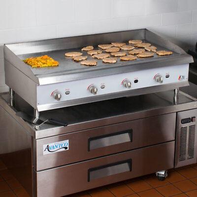 48 Natural Gas Commercial Restaurant Kitchen Countertop Griddle Lp Convertible