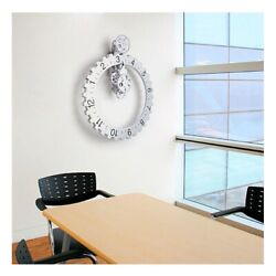 Kikkerland Big Wheel Revolving Wall Clock. Cool unique decor for home or office