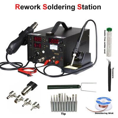 3 In 1 853d Hot Air Gun Station Welding Smd Rework Welding Repair Tool 110v220v