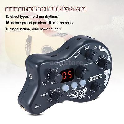 Guitar Multi Effects Processor Effect Pedal 15 Effect Types Us Plug L2o6