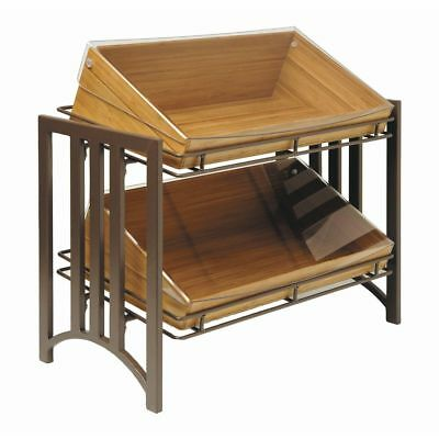 Cal-mil Display Stand 2-tier Brown Metal - 23 12 L X 12 W X 17 H 1722-54