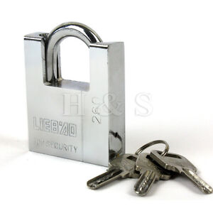 60mm-Solid-Heavy-Duty-Warehouse-Container-Garage-Shutter-Padlock-Gate-Chain-Lock
