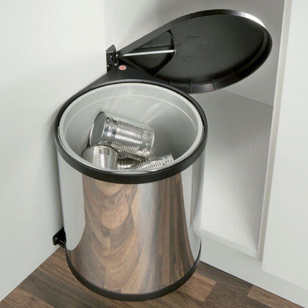 Built In Kitchen Waste Bin Cupboard Storage Under Sink Dustbin 12l 15l