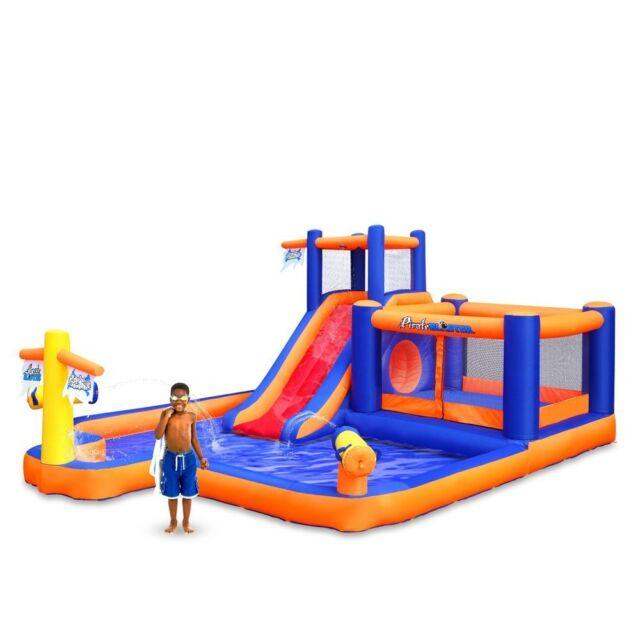 inflatable water slide bounce house commercial jumper bouncer park pool splash