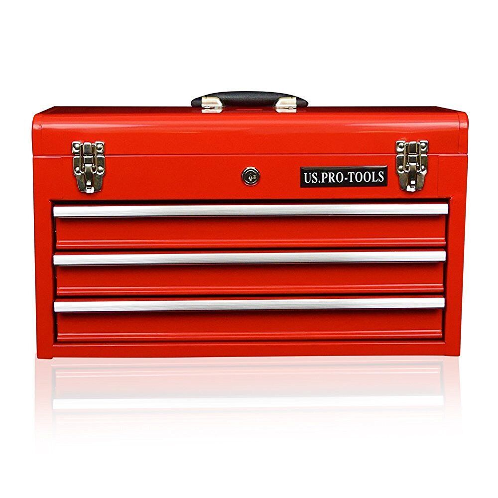 62 us pro tools portable toolbox tool chest box cabinet for 4 box garage