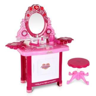 30 Piece Pretend Girls Kids Dressing Table Make Up Beauty Vanit