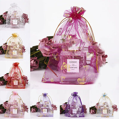 Mesh Gift Bags (Organza Drawstring Gift  Bags Jewelry Candy Mesh Pouches Wedding Favors)