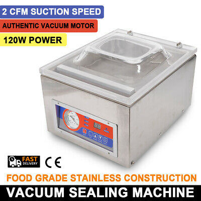 120w Desktop Vacuum Sealer Commercial Home Food Chamber Packaging Machine Sealer