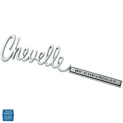 1971-72 Chevelle Trunk Lid Emblem
