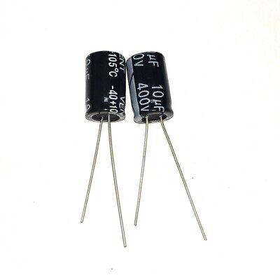 100pcs 400v 10uf 400volt 10mfd 105c Aluminum Electrolytic Capacitor 812mm