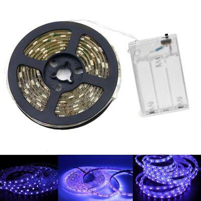 Black Light Night (Ultraviolet UV 5V Black Light LED Strip USB AA battery Night Lamp Purple 2m)