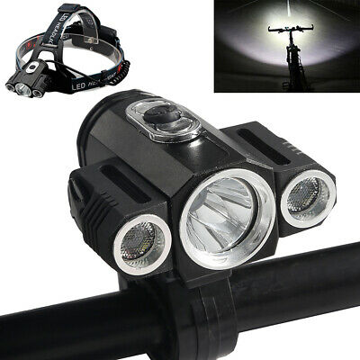 35000Lumens Bike Bicycle Front LED Head Light Rechargeable 3xT6 Waterproof Lamp Bike Bicycle Head