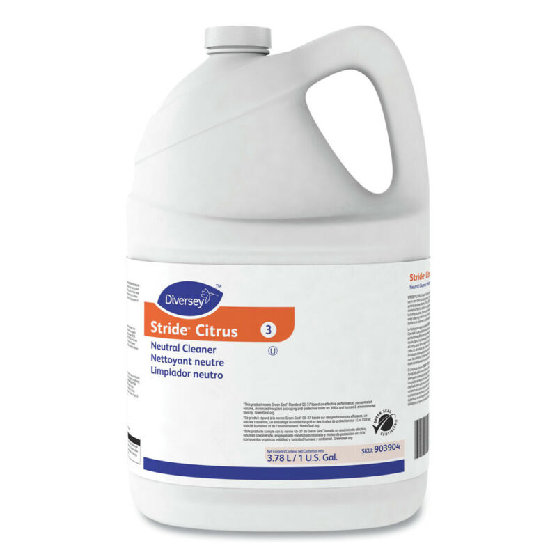 Diversey 903904 4-Pc/CT Stride Citrus 1 gal Bottle Neutral Cleaner New