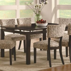 Coaster 103161   Libby Rectangular Dining Table With Floating Top    Cappuccino