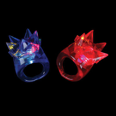 10 Blinky Bling Flashing Finger Light Rave Rings