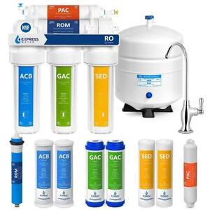NEW Express Water 5 Stage Undersink Reverse Osmosis Drinking Water Filtration plus Extra Set of 4 Supreme Quality Rep...