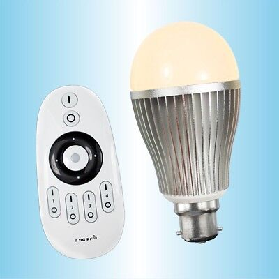 Dimmable LED bulb with remote control - useful to those with limited mobility