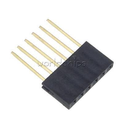 100pcs 2.54 Mm 6 Pin Long Single Row Stackable Shield Female Header For Arduino