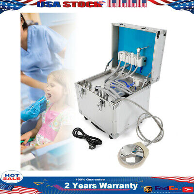Dental Delivery Units Control System Portable Rolling Caseair Compressor 4-hole