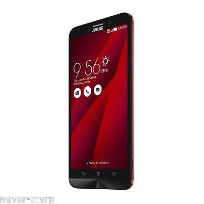 """ASUS ZenFone 2 Laser ZE600KL Red (Factory Unlocked) 16GB , 6.0"""" iPS , 13MP"""