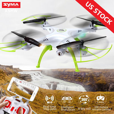 Syma X5HW FPV 4CH RC Quadcopter Drone with HD Wifi Camera Hang suspended Function White