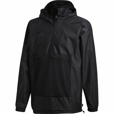 Adidas Men's Jacket Tango Cage Hooded Black Athletic Windbreaker  CW7423