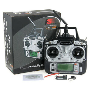 FLYSKY RC FS-T6 2.4GHz 6CH Mode 2 Transmitter + Receiver R6-B Helicopter Plane