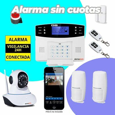 ⭐ Alarma Hogar AZ017 GSM Camara de vigilancia interior 2 Detectores movimiento⭐