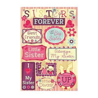Scrapbooking Crafts Karen Foster Stickers Sisters Big Little Best Friends (Best Friends Little Sister)