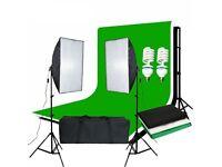 Softbox Lighting Kit, Photo Studio, Backdrop Set