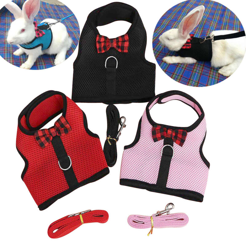 Small Animal Harness Rabbit Harness and Leash Guinea Pig Ferret Rabbit Clothes
