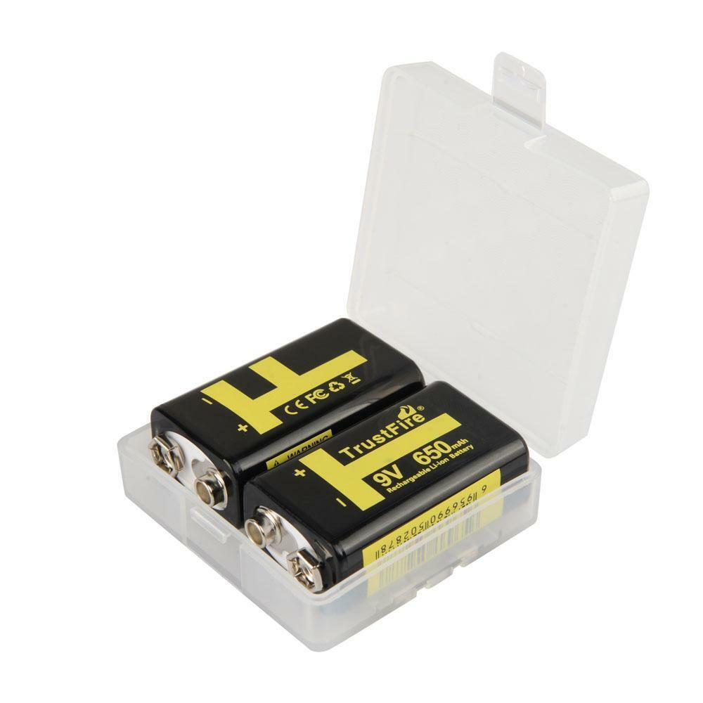 B-Ware 2er Pack 9V Akku Li-Ion 650mA Block Batterie wiederaufladbar