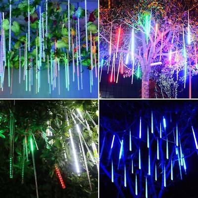 192/288LED Meteor Shower Falling Rain Drop Icicle Christmas Party Outdoor Lights