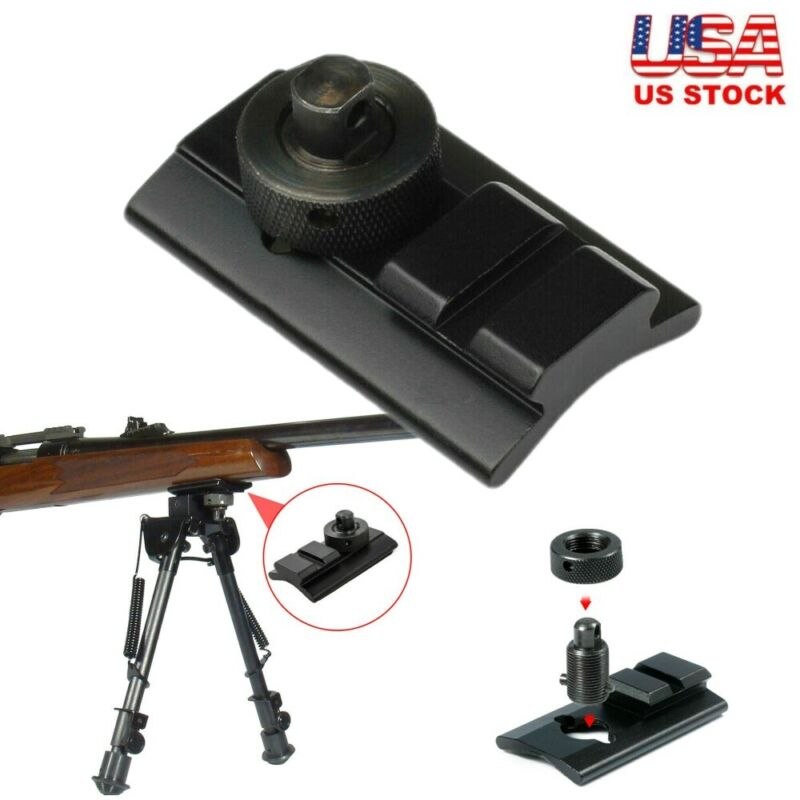 For Rifle Sling Swivel Stud to Picatinny Rail Bipod Mount Adapter Black Durable