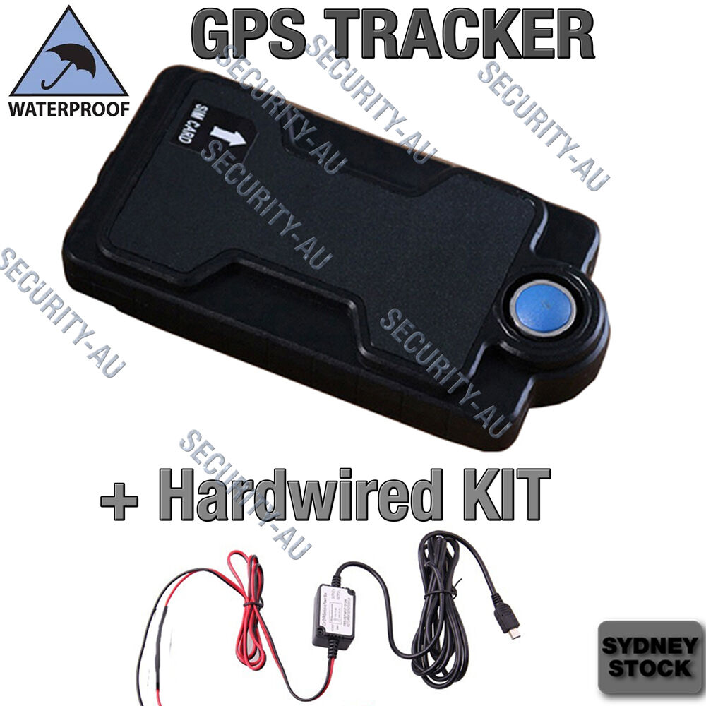 3G GPS Tracker Waterproof Listening Device Anti Car Boat Theft Hardwired Kit