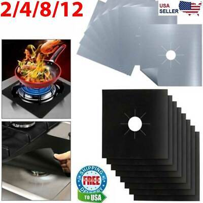 Gas Range Stove Top Burner Cover Protector Reusable Liner Clean Cook Non-stick - Non Stick Liner Covers