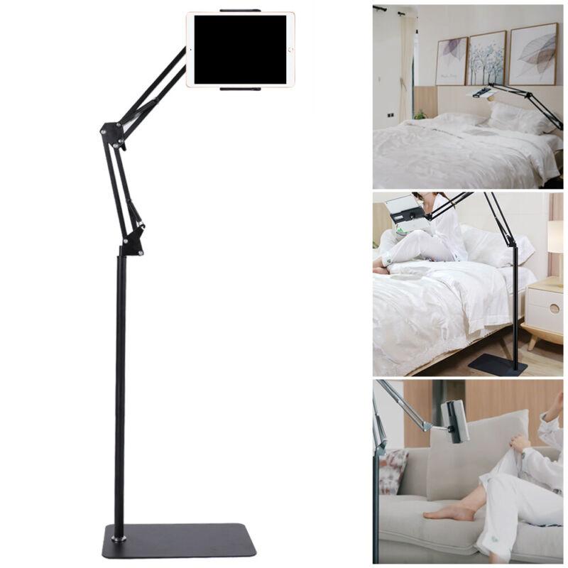 """Adjustable Floor Stand Universal 360-Degree Rotatable 4-10.6"""" iPad Tablet Holder"""