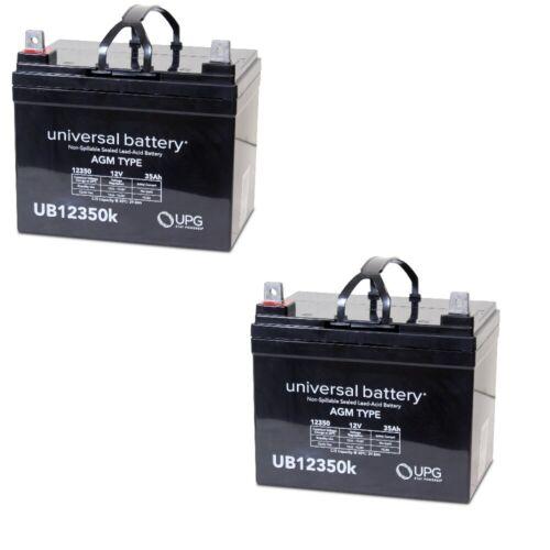 2 PACK UPG UB12350 12V 35AH  SLA Battery Replaces Pride Mobi