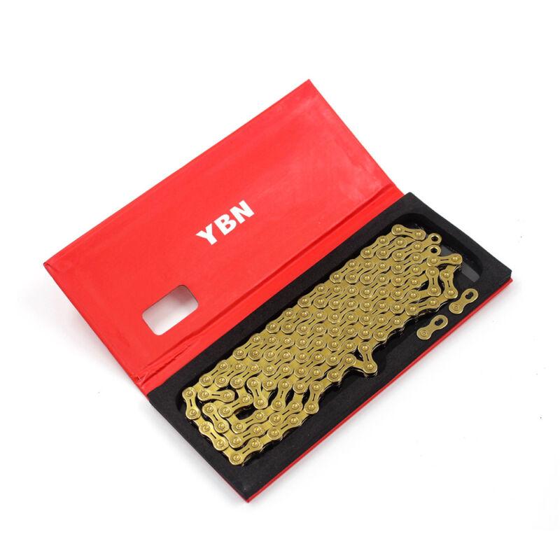 YBN 11 Speed Bicycle Chain SLA H11-TIG Gold Titanium coating